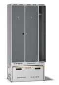 Einsatzschrank Pro F100 mit Auszug 2100x1000x550mm, 3 Abteile | günstig bestellen bei assistYourwork