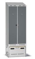 Einsatzschrank Pro A80 mit Auszug 2100-2217x800x550mm, 2 Abteile | günstig bestellen bei assistYourwork