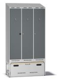 Einsatzschrank Pro D120 mit Auszug 2100-2217x1200x550mm, 3 Abteile | günstig bestellen bei assistYourwork