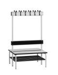 SONO Umkleide- Sitzbank 2000mm, mit HPL - Auflage, doppelseitig | günstig bestellen bei assistYourwork