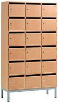 Holz- Fächerschrank mit 12 Fächern 1780x660x400mm, mit Einwurfschlitzen | günstig bestellen bei assistYourwork