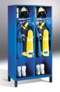 Feuerwehrschrank Evolo 2 Abteile 500mm 2000x1010x600mm, ohne Wertfach | günstig bestellen bei assistYourwork