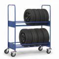 Reifenwagen 4585 mit 2 Ebenen 1370x670x1725mm, 250kg Tragkraft | günstig bestellen bei assistYourwork