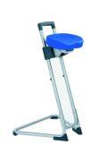 Edelstahl - Stehhilfe 600-850mm Sitzfarbe blau | günstig bestellen bei assistYourwork