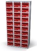 Postverteilerschrank 1800x900x500 mm mit 30 Postfächern | günstig bestellen bei assistYourwork