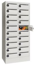 Postverteilschrank Zahlenschloss mechanisch 1850x500x630mm mit 20 Postfächern | günstig bestellen bei assistYourwork