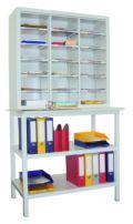 PAVOY Ordnungsregal 1950x1000x400mm, 18 verstellbare Fächer, Ablagetisch | günstig bestellen bei assistYourwork
