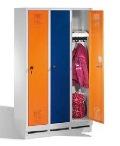 S3000 EVOLO Schul- Garderobenschrank 3 Abteile, 1600x900x500mm, Sockel | günstig bestellen bei assistYourwork
