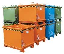 Klappbodenbehälter TYP SB 2000 lackiert 2,00m³ | günstig bestellen bei assistYourwork