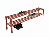 Schuhregal aus Stahl- Grundregal für Halbschuhe 150 cm lang | günstig bestellen bei assistYourwork