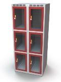 Schließfachschrank mit Sichtfenster 6 Fächer HxBxT: 1370 x 600 x 500 mm | günstig bestellen bei assistYourwork