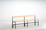 Sitzbank 131547 1500mm, einseitig mit Rückenlehne | günstig bestellen bei assistYourwork
