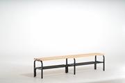Sitzbank 131541 1500mm, einseitig, mit Schuhrost ohne Rückenlehne | günstig bestellen bei assistYourwork