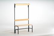 Garderobenbank 131452 1015mm, einseitig mit Rückenlehne und Hakenleiste | günstig bestellen bei assistYourwork
