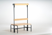Garderobenbank 131453 1015mm, doppelseitig mit Rückenlehne und Hakenleiste | günstig bestellen bei assistYourwork