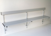 Alu-Klappbank 131327 1210 - 2000mm Aluleisten, zur Wandbefestigung | günstig bestellen bei assistYourwork