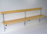 Holz-Klappbank 131357 1210 - 2000mm mit Kiefernholzleisten mit Platzspareffekt | günstig bestellen bei assistYourwork