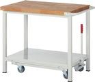 Werkbank mit absenkbarem Fahrgestell HxBxT: 880 x 1000 x 700 mm | günstig bestellen bei assistYourwork