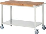 Werkbank fahrbar mit Ablageboden HxBxT: 880 x 1250 x 700 mm | günstig bestellen bei assistYourwork