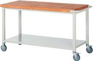 Werkbank fahrbar mit Ablageboden HxBxT: 880 x 1500 x 700 mm | günstig bestellen bei assistYourwork