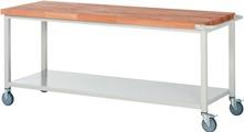 Werkbank fahrbar mit Ablageboden HxBxT: 880 x 2000 x 700 mm | günstig bestellen bei assistYourwork
