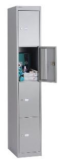 Schließfachschrank Office 4 Fächer HxBxT: 1802 x 305 x 305 mm | günstig bestellen bei assistYourwork