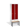 Select Garderobenschrank vorgebaute Sitzbank1-100237 2 Abteile á 300mm,EXPRESS LIEFERUNG | günstig bestellen bei assistYourwork
