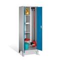 Raumpflege-Geräteschrank auf Füßen, 2 Abteile, EXPRESS-Lieferung | günstig bestellen bei assistYourwork