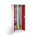 Raumpflege-Geräteschrank auf Sockel, 2 Abteile, EXPRESS-Lieferung | günstig bestellen bei assistYourwork