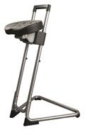 Stehhilfe mit PU-Sitz und Gestell aus Edelstahl | günstig bestellen bei assistYourwork