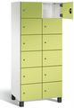 Fächerschrank S 7000 Prefino - 6 Fächer übereinander, 6x2 Abteile á 400mm, mit Stahltüren | günstig bestellen bei assistYourwork